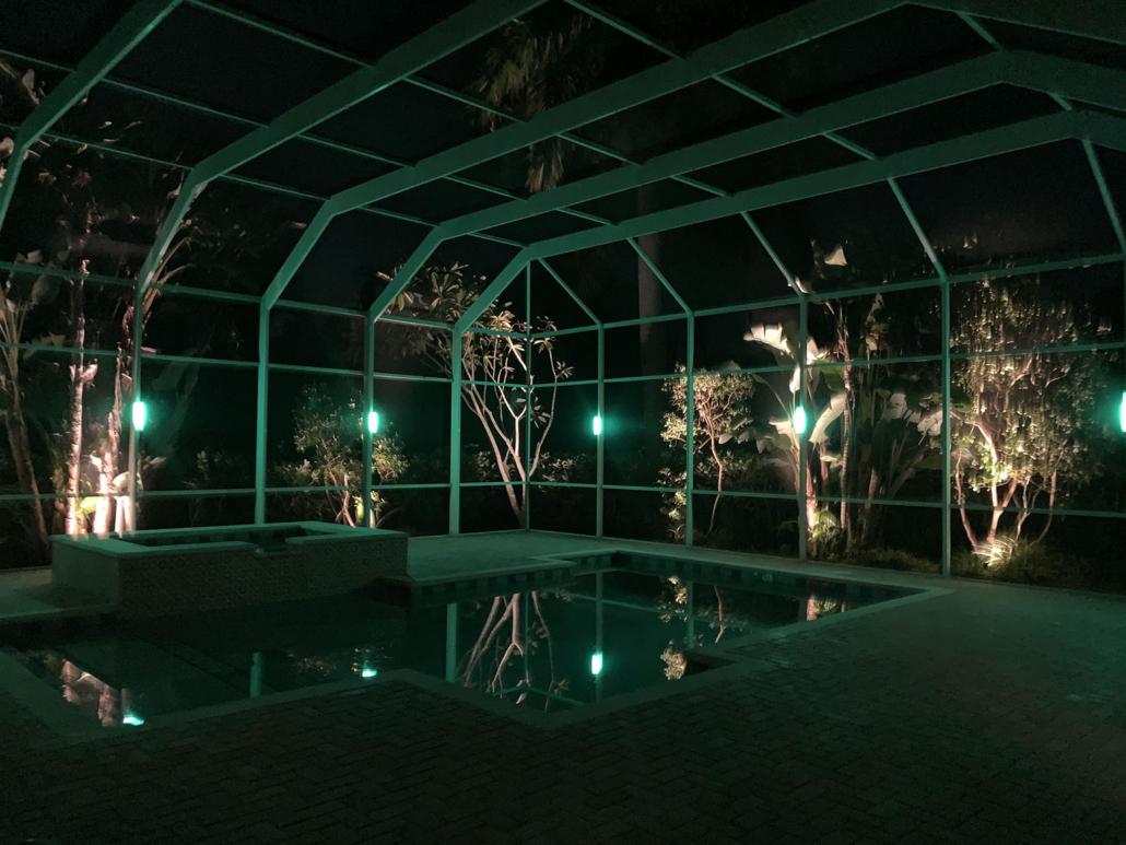 Pool Cage Lanai Lights