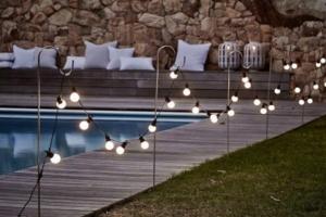 Light bulbs Along or Over Pool